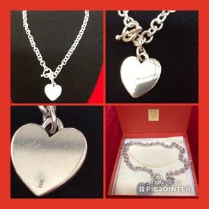 """Rare! James Avery Cable Toggle Heart Necklace 16"""""""